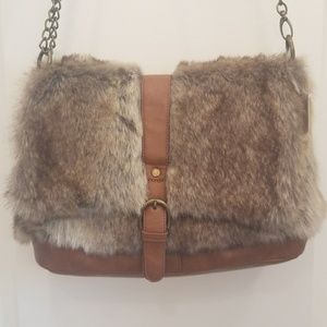 Forever 21 faux fur purse NWT
